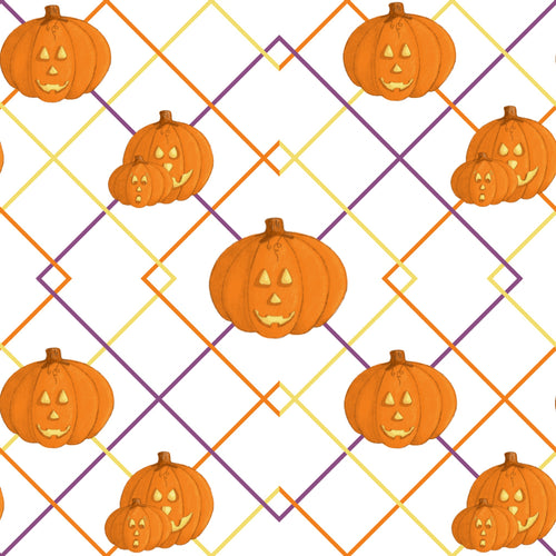 Sweet Halloween Pumpkins Fabric
