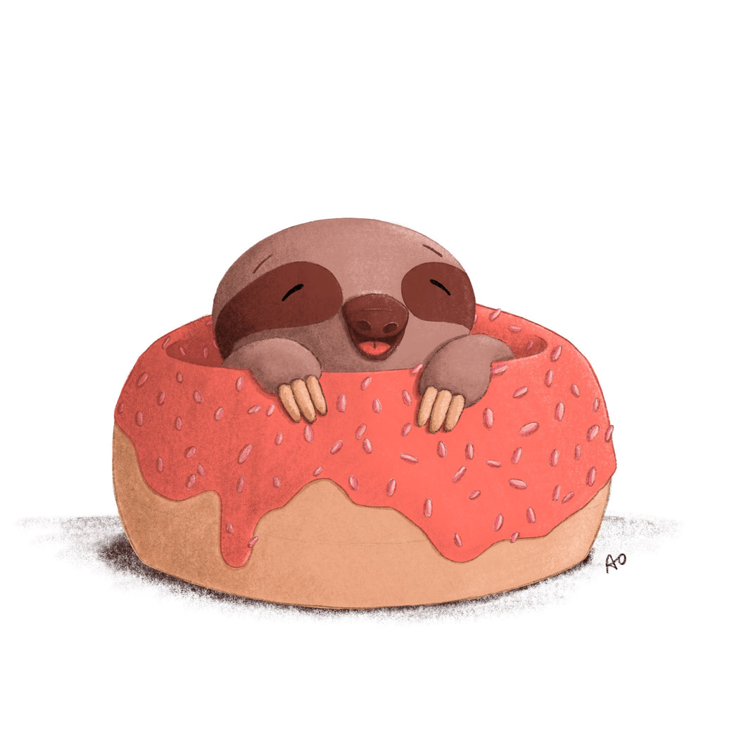 Happy Sloth Print