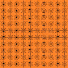 Orange Spiderwebs Fabric