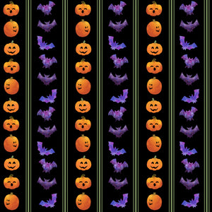 Spooky Purple Bats Fabric