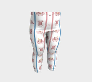 Ballerina Bugs White Costumes Baby Leggings