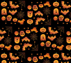 Spooky Spiders Fabric