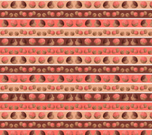 Sweet Sloths Donut Hole Stripe Fabric