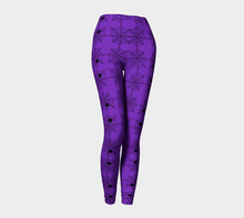Spooky Purple Spiderwebs Leggings