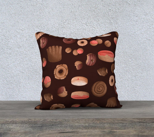 Sweet Sloths Dark Donut Scatter Pillowcase