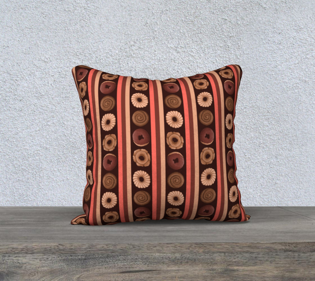 Sweet Sloths Dark Donut Stripe Pillowcase