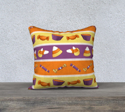 Sweet Halloween Candy Stripe Pillowcase