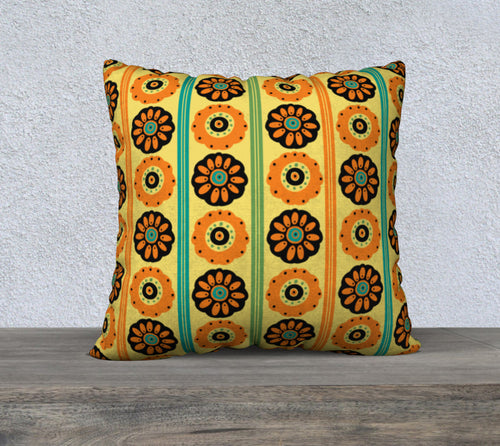 Dia de los Muertos Yellow Flowers Pillowcase