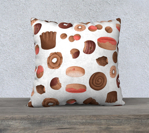 Sweet Sloths White Donut Scatter Pillowcase