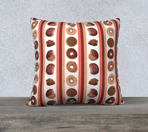 Sweet Sloths Donut Stripe Pillowcase