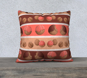 Sweet Sloths Donut Hole Stripe Pillowcase