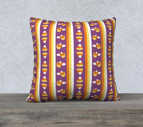 Sweet Halloween Candy Corn Stripe Pillowcase