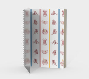 Ballerina Bugs White Costumes Spiral Notebook