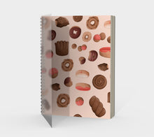 Sweet Sloths Tan Donut Scatter Spiral Notebook