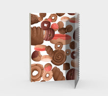 Sweet Sloths Donut Heavy Scatter Spiral Notebook