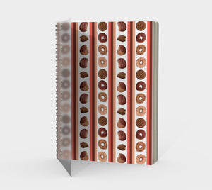 Sweet Sloths Round Donut Stripe Spiral Notebook