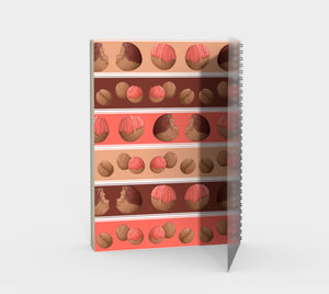 Sweet Sloths Donut Hole Stripe Spiral Notebook