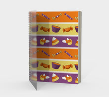 Sweet Halloween Candy Stripe Spiral Notebook