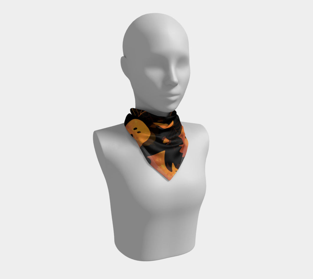 Spooky Orange Halloween Scarf