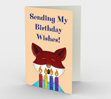 Birthday Fox Greeting Card (Set of 3)