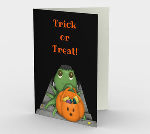Trick or Treat Greeting Card (Set of 3)