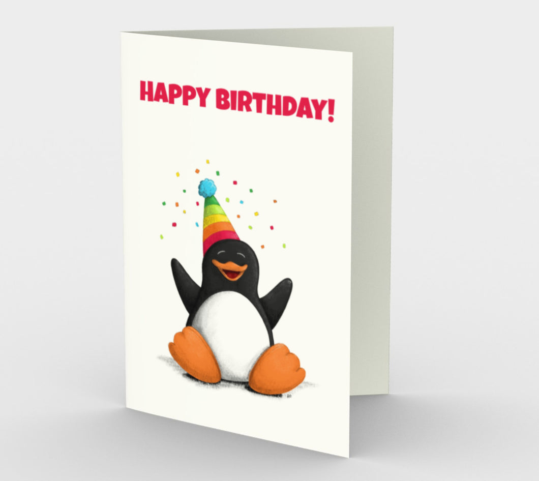 Happy Birthday Penguin Greeting Card (Set of 3)
