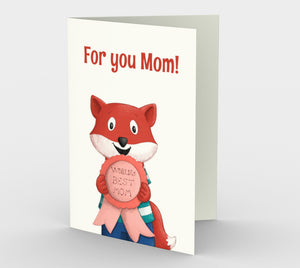 World's Best Mom Greeting Card (Set of 3)