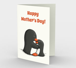 Mother's Day Penguins Greeting Card (Set of 3)