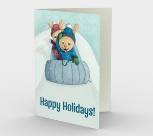 Happy Holiday Bunnies Greeting Card (Set of 3)