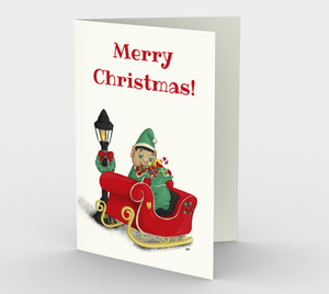 Christmas Elf Greeting Card (Set of 3)
