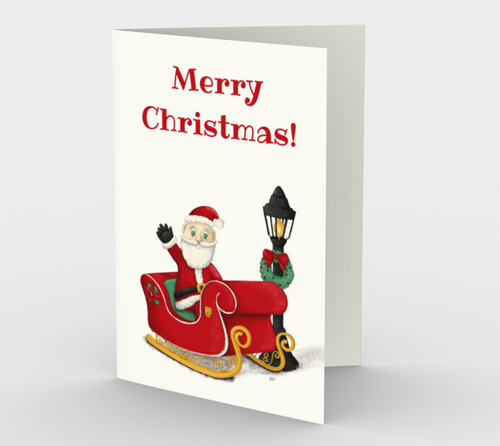Merry Christmas Santa Greeting Card (Set of 3)