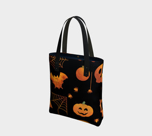 Spooky Orange Halloween Tote Bag