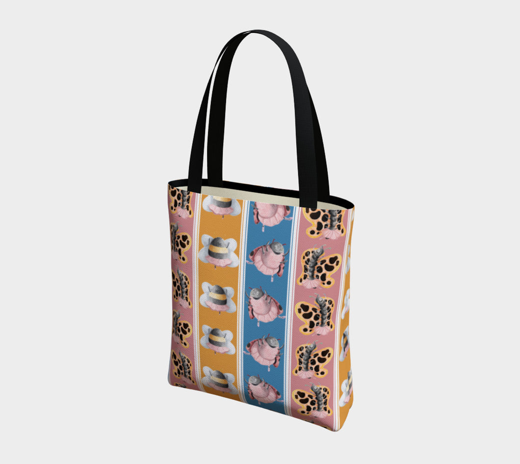 Ballerina Bugs Large Design Tote Bag