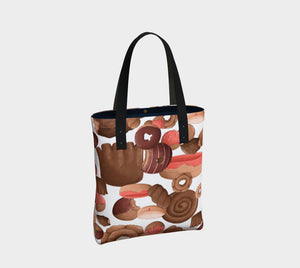 Sweet Sloths Heavy Donut Scatter Tote Bag