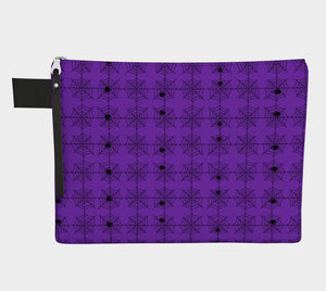 Spooky Purple Spiderwebs Zipper Carry-All