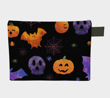 Spooky Orange and Purple Halloween Zipper Carry-All