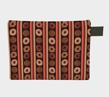 Sweet Sloths Dark Donut Stripe Zipper Carry-All