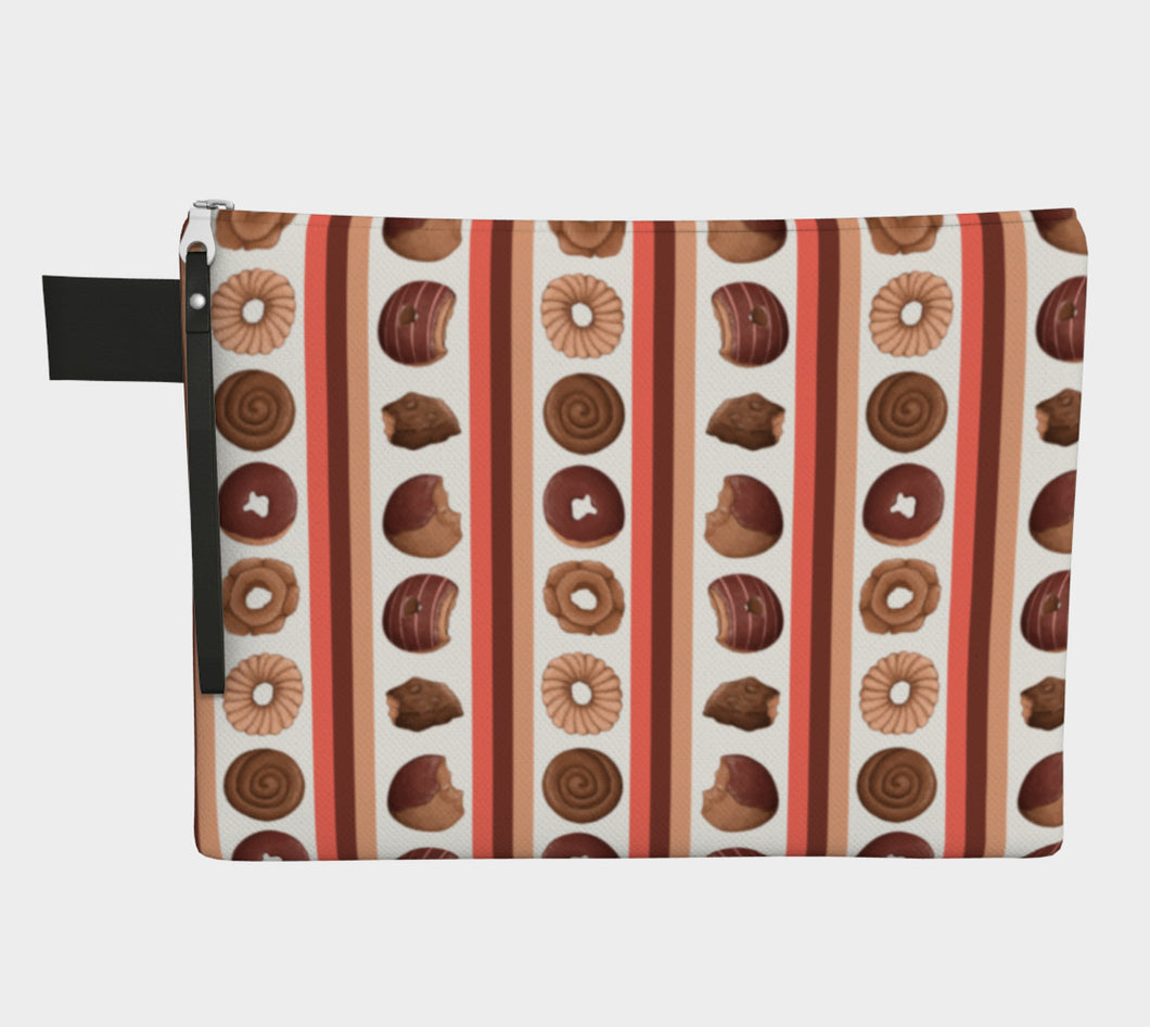 Sweet Sloths Donut Stripe Zipper Carry-All