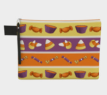 Sweet Halloween Candy Stripe Zipper Carry-All