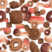 Sweet Sloths Donut Heavy Scatter Fabric