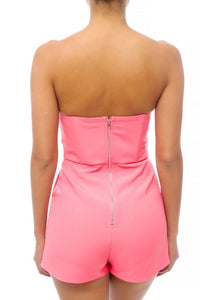 City Romper - Pink Canary