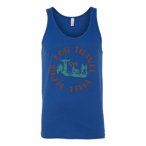Will Work For Travel Unisex Tank
