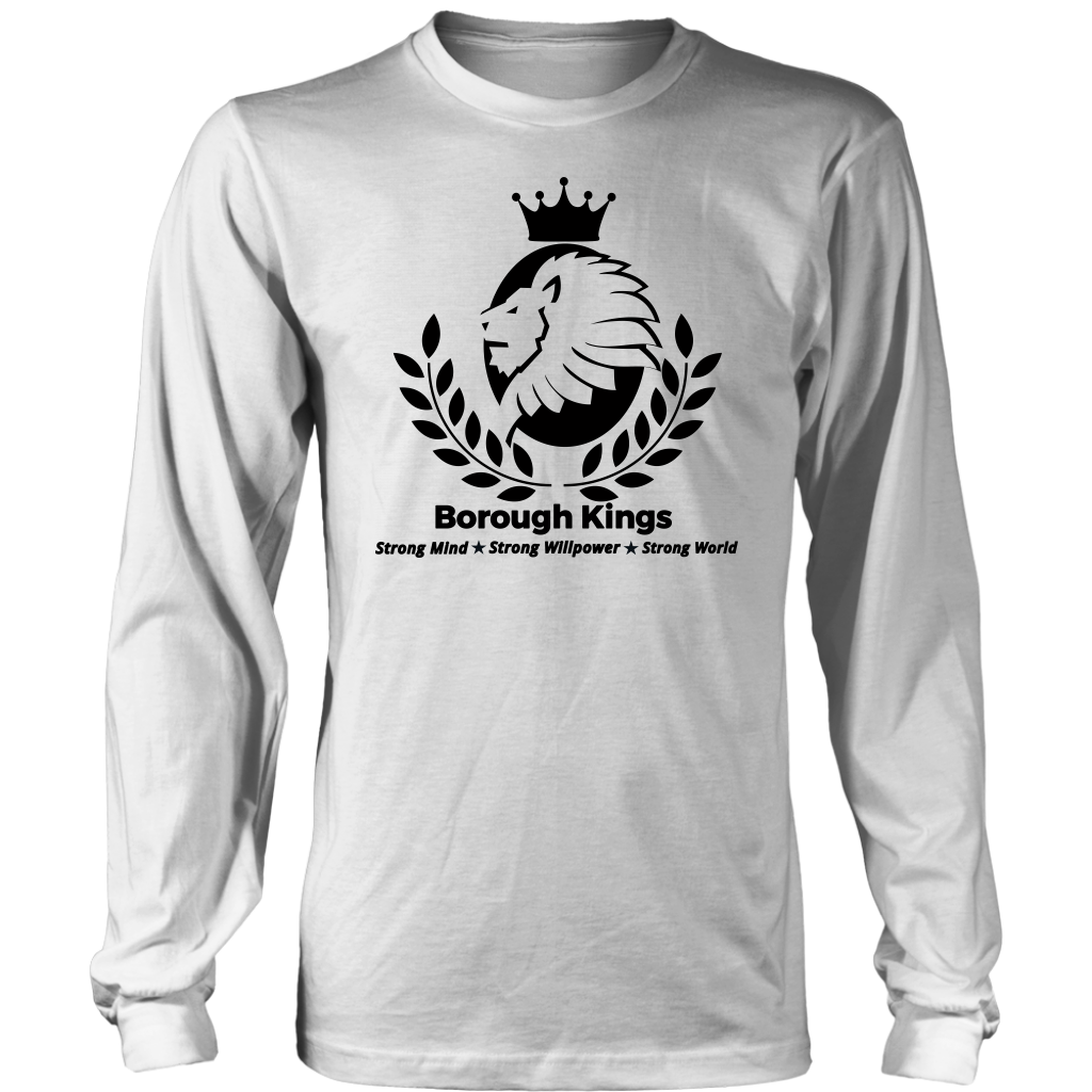 Borough Kings With Tagline Long Sleeve Shirt - Borough Kings
