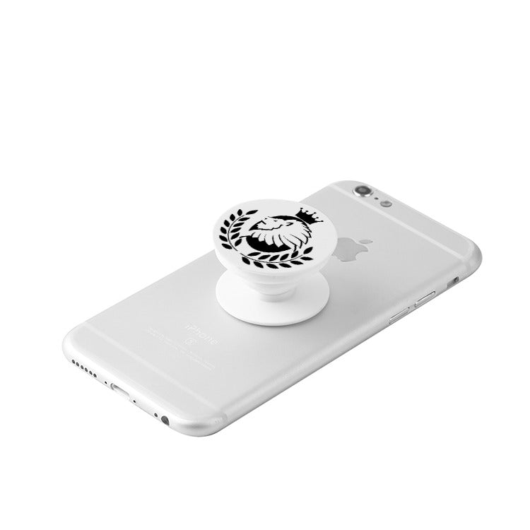 Borough Kings White Collapsible Grip & Stand for Phones and Tablets - Borough Kings