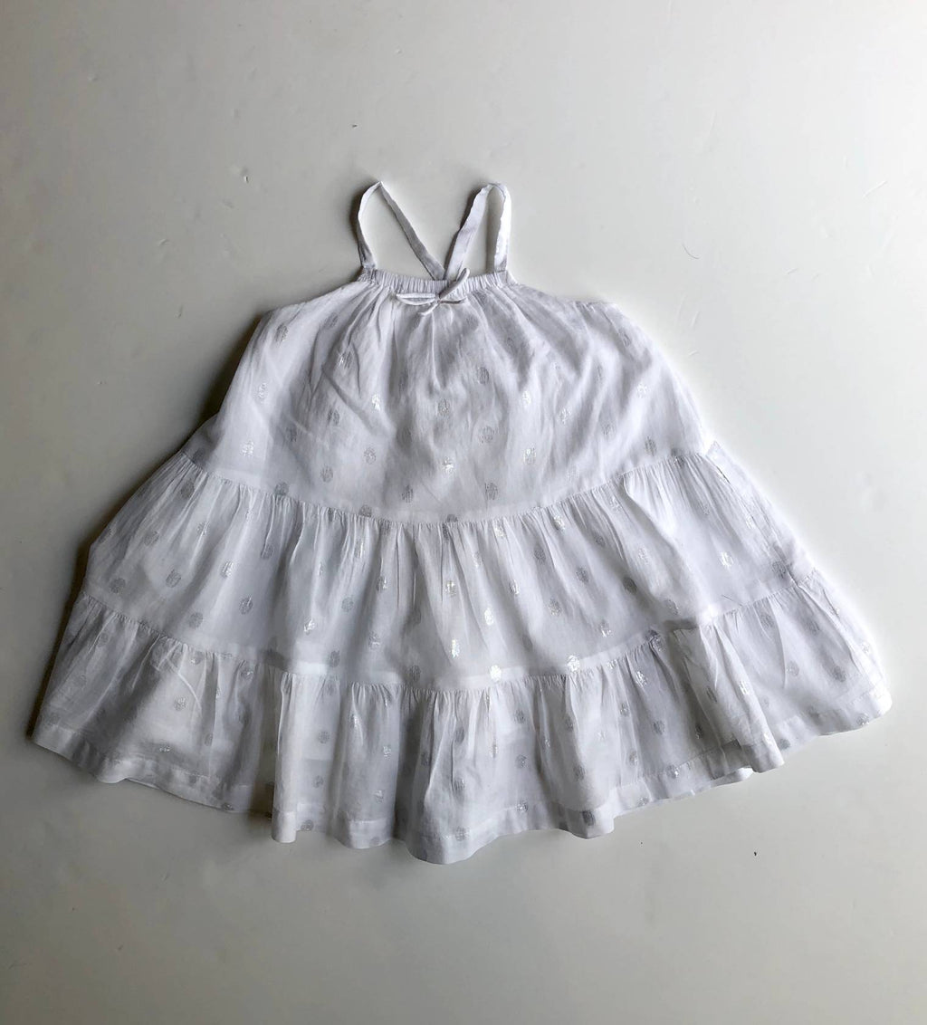 Cotton On Kids white cotton maxi dress (3 -4 years)