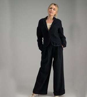 Lilith wool pin striped pant suit (jacket SA10/pants SA8)
