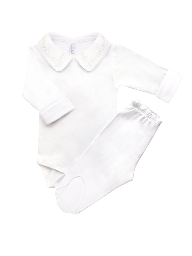 Cj Body Bordado Trigo Branco Masculino