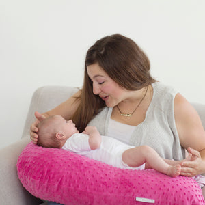 The Bright Pink Bubble Nursing Pillow is Canada's favourite breastfeeding pillow!
