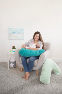 Nursing Pillow - SuperSoft Teal Bubble