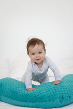Load image into Gallery viewer, Nursing Pillow - SuperSoft Teal Bubble